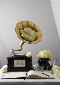 THE GREAT GATSBY| READ MORE: http://zouchandlamare.com/2013/05/24/the-great-gatsby/ #gramophone #guestsigningtable #20s