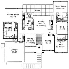Adobe House Plans & Southwestern Home Design First Floor 072D-0417