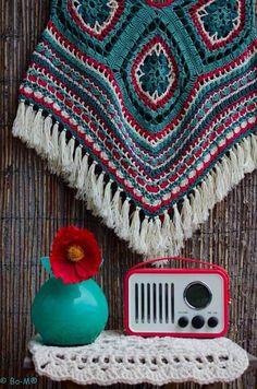 Patron ponchos juveniles tejidos a crochet