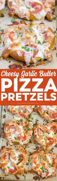 These Easy Garlic Butter Pizza Pretzels are a perfect after school snack and are also great hand-held food for game day parties!