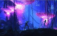 Bioluminescence in the movie Avatar
