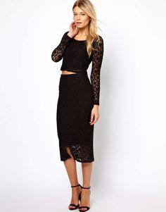 Love, Midi Skirt In Lace.