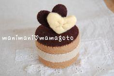 チョコケーキ (フェルトケーキ) :: manimani Day's|yaplog!(ヤプログ!)byGMO