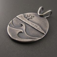 This pendant is a celebration of the cold winters along the shore of Lake Superior. Winter Gales Sterling Silver Pendant – bethmillner.com