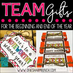 With summer almost half way over and back-to-school just around the corner, I thought I'd share my back-to-school team gift ideas, as well as end of the year gift ideas!  What better way to show my coworkers just how much I appreciate working with all of them than with a little gift?! Last year, I …