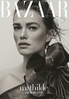 Mathilde on the Cover of Harper's Bazaar Turkey by Tom Schirmacher Fashion Magazine Cover, Cool Magazine, Fashion Cover, Elle Magazine, Magazine Covers, Advertising Photography, Editorial Photography, Beauty Photography, Revista Bazaar