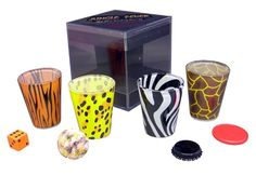 What's Shot glasses in every animal print + this =? ..  #shotglasses #party