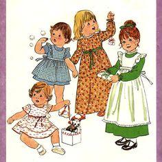 883 Simplicity 8279 Childs Dress & Pinafore Mini by ladydiamond46
