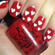 17 Valentine's Day Nail Ideas  easy ♥ to paint on your nails!   Valentines Day