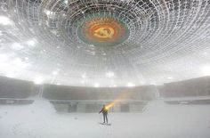Abandoned Soviet-era building