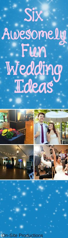 Do you want to make your wedding stand out?  Do you want it to be a little different then all of the other weddings you've attended?  Check out 6 ideas to make that happen!