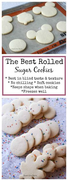 *VIDEO* These are The Best Rolled Sugar Cookies and require no chilling and keep their shape! These Rolled Out Sugar Cookies won first place in a blind taste and texture test! Rollable Sugar Cookies are the best! Rolled Sugar Cookie Recipe, Best Sugar Cookies, Christmas Sugar Cookies, Sugar Cookies Recipe, Yummy Cookies, Best Tasting Sugar Cookie Recipe, Best Cutout Cookie Recipe, Shaped Cookies Recipe, Best Holiday Cookies