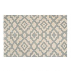 One of my favorite discoveries at ChristmasTreeShops.com: Blue Lattice Floral Handwoven Wool Area Rug