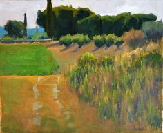 """Ian Roberts, Behind the Chateau - Oil on canvas, 10"""" x 12"""""""