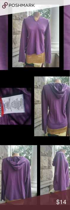 Purple Hooded Pullover Medium Weight  Pinned to Fit Small Dressform   In Great/Excellent Condition Danskin Tops Sweatshirts & Hoodies
