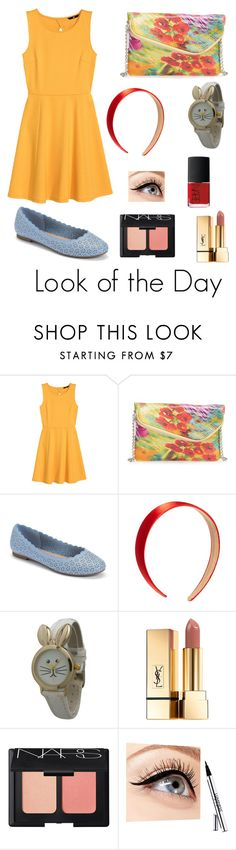 """""""Look #86"""" by kylie-smith25 ❤ liked on Polyvore featuring H&M, HOBO, LC Lauren Conrad, Olivia Pratt, Yves Saint Laurent, NARS Cosmetics, Luminess Air, sweet and artsy"""