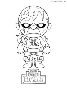 Fortnite battle royale coloring page Fire King Chibi Skin Season 8 Coloring Pages For Boys, Coloring Pages To Print, Colouring Pages, Printable Coloring Pages, Coloring Sheets, Coloring Books, Art Drawings Sketches, Cartoon Drawings, Tiki Tattoo