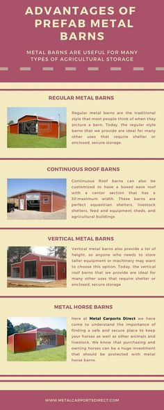 Here at Metal Carports Direct, we have highly durable metal #barns for sale to protect your valuables. Browse our prefab #steel barn #buildings and build your barns. Get FREE delivery and FREE installation!.  Get a custom quote today: (844)337-4137 #metalcarports #metalgarages #metalbuildingkits #metalbarns Metal Carports, Metal Garages, Metal Barn Kits, Prefab Metal Buildings, Rv Shelter, Metal Building Kits, Steel Barns, Free Delivery, Quote