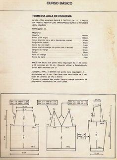 Tricô à Máquina: Aula de esquemas