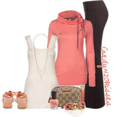 peaches and cream, created by candy420kisses on Polyvore