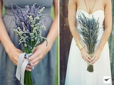 Lavender bouquet 3 : PANTONE WEDDING Styleboard : The Dessy Group