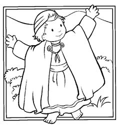 Josephs Coat coloring sheet Joseph Coat of Many Colors and