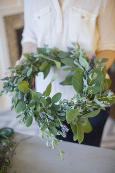 DIY Herb Wreath | tutorial + tips from Style Me Pretty