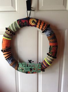 Halloween Fabric Wrapped Wreath