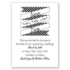 Stripes & Banners - Save the Date - David's Bridal Invitations