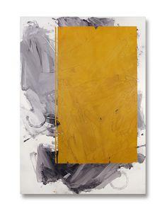 """IVO STOYANOV """"Yellow #23"""" Mixed Media on Canvas , 68""""X 48"""""""