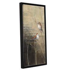 ArtWall Avery Tillmon's Sparrows At Dusk, Gallery Wrapped Floater-framed
