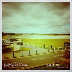 View from behind the clubhouse and out to the beautiful St Andrews beach St Andrews Golf Club, Golf Clubs, Saints, Web Design, Beach, Movie Posters, Beautiful, Santos, The Beach