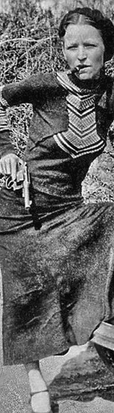 Bonnie Parker of Bonnie & Clyde robbers.
