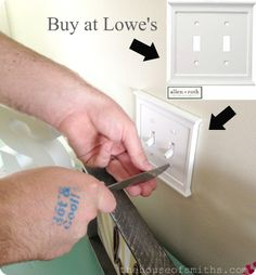 New light switch covers from Lowe's make all the difference :)