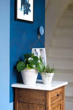MY ATTIC voor vtwonen / diy bloempotten beton look / planten / plants / blue wall    Fotografie: Marij Hessel My Dream Home, Diys, Planter Pots, Fancy, Vase, Inspiration, Interior Design, Home Decor, Style