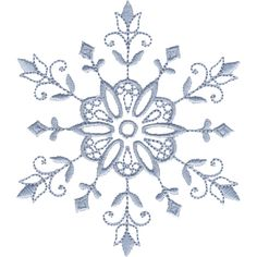 "This free embroidery design from Embroidery Online is called ""Snowflake Accent""."