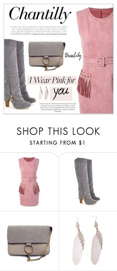 """""""Dresslily"""" by water-polo ❤ liked on Polyvore featuring polyvoreeditorial and IWearPinkFor"""