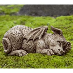 Have to have it. Campania International Puzzle The Dragon Cast Stone Garden Statue $89.99