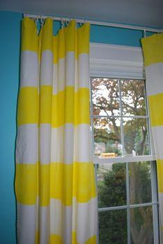 DIY Striped Curtains (No-Sew) - Design Dazzle