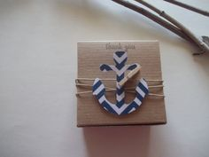 30 Nautical anchor favor boxes ~ Nautical Wedding~ Nautical Baby shower ~