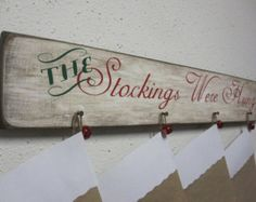 Stocking Holder Christmas Stocking Holder by BornOnBonn on Etsy