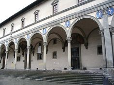 Brunelleschi, Ospedale degli innocenti, 1419-1451, Pietra serena, Firenze