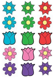 cheznounoucricri - Page 47 Small Flowers, Diy Flowers, Spring Flowers, Paper Flowers, Cutting Activities, Craft Activities For Kids, Valentine's Day Crafts For Kids, Toddler Crafts, Flower Fence