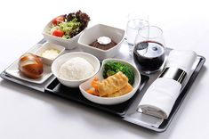 Cathay Pacific Business Class meal #airline #cathaypacific #food