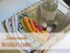 Homemade Household Cleaners | Mindfully Frugal Mom