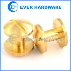 Book binding posts brass chicago screws for leather brass custom