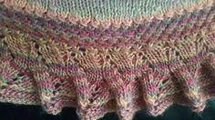 Ravelry: Cross and Peak Crescent Shawl pattern by Sue Kay Knits