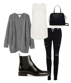 Black ripped jeans and ankle boots. Outfits Fo, Cute Rainy Day Outfits, Rainy Day Outfit For School, Style Outfits, Everyday Outfits, Outfit Of The Day, Winter Outfits, Casual Outfits, Rainy Outfit