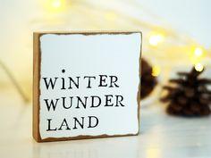 Weihnachtsdeko - Wandbild aus Holz - Winter Wunder Land - ein Designerstück von JadeGrafik bei DaWanda