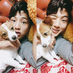 Ji Soo and a puppy, can you get any cuter than this Asian Actors, Korean Actors, Korean Dramas, Korean Idols, Kdrama, Ji Soo Actor, Jun Matsumoto, Strong Woman Do Bong Soon, Hong Ki